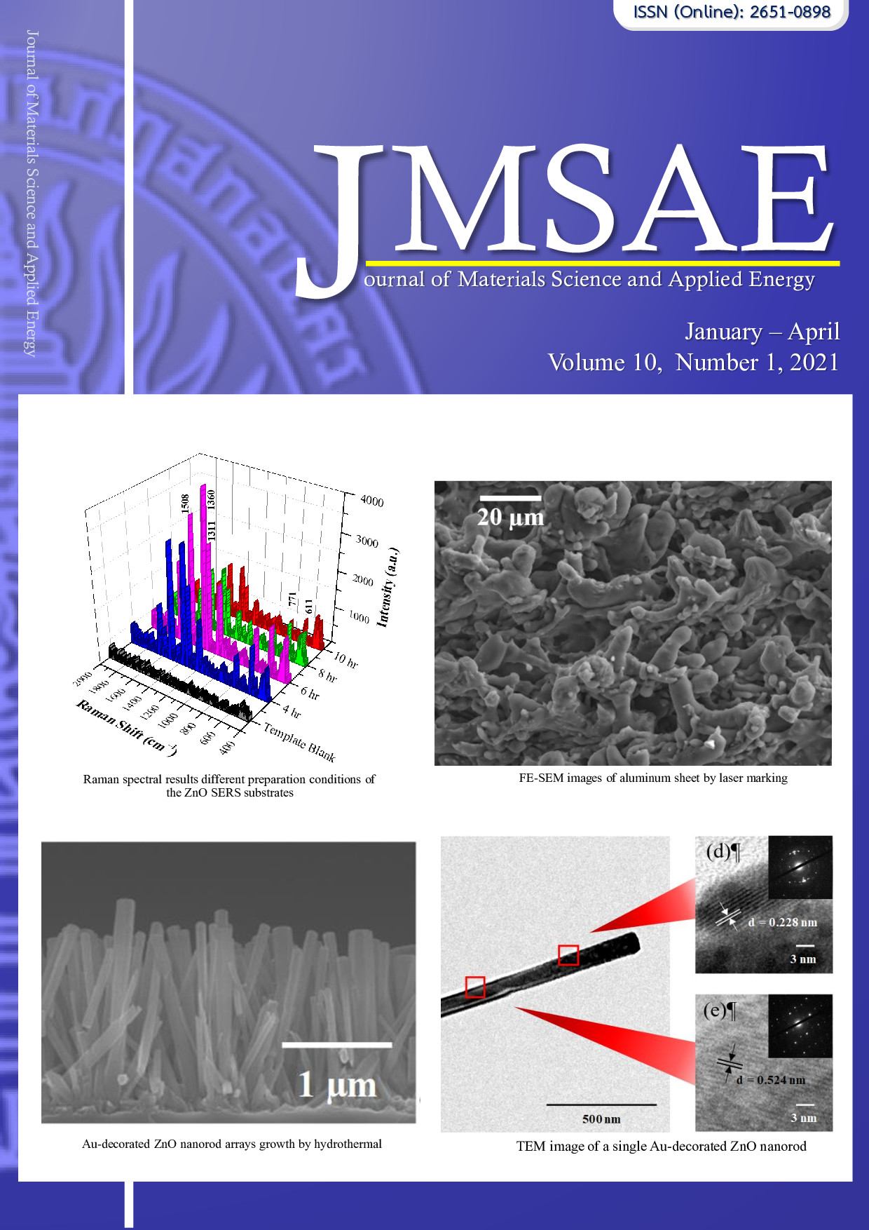 Vol. 10 No. 1 (2021): Journal of materials science and ...